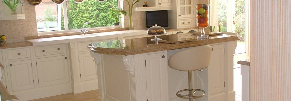 <strong>Kitchens</strong><br />We can help you design your perfect kitchen, including structural alterations to meet your requirements, from off the shelf to bespoke kitchen designs.